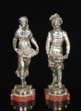 Pair of Silverplate Figures