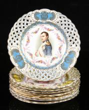 Group of 8 Napoleonic Plates