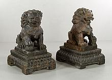 Pair of Chinese Palace Foo Dogs