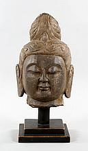 Chinese Carved Stone Buddha Head