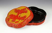 19th/20th C. Chinese Cinnabar Box