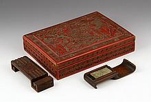 18th C. Chinese Scholar's Box and Brush Stand