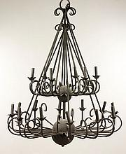 Large Black Iron Chandelier