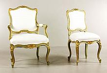 French Armchair and Side Chair