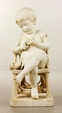 Lapini, Marble Sculpture of Child