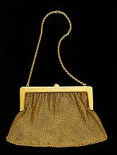 14K Gold Mesh Ladies' Bag
