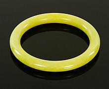 Chinese Yellow Jade Bangle