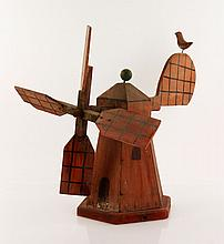 Folk Art Windmill Whirligig