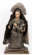 19th C. Spanish Madonna and Child