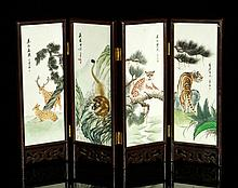 Chinese Folding Table Screen