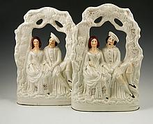 Pair 19th C. Staffordshire Figures