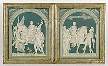 Mettlach Porcelain Plaques