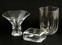 Lot of 3 Steuben Crystal Pieces