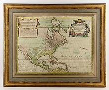 Circa 1700  Hand Colored French Map