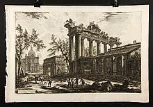 Piranesi, Veduta del Tempio detto della Concordia, Etching