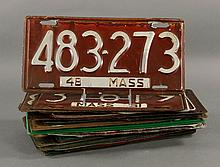 20 Vintage MA and NH License Plates