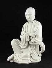Chinese Blanc-de-Chine Luohan Figure