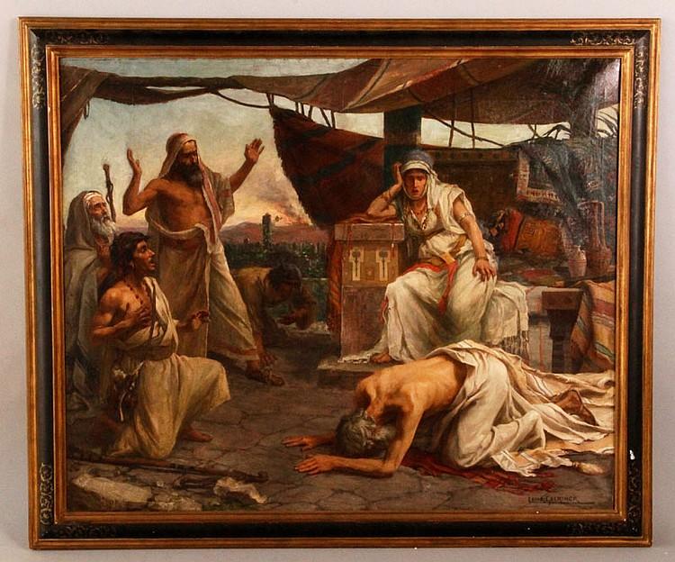 19th C. Interior Scene, O/C