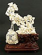 Chinese Intricately Carved Ivory Tree