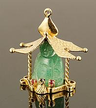 14K Yellow Gold and Ruby Pagoda