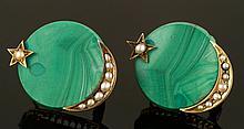 Antique Russian 10K Earrings