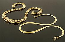 Lot of 2 14K Necklaces