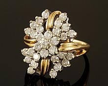 14K Diamond Cocktail Ring