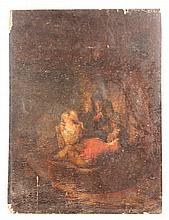 17th/18th C. Flemish, Interior Scene, O/W