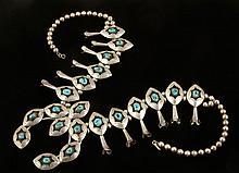 Navajo Silver Necklace Set
