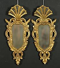 Pr. Italian Gilt Wood Mirrors