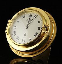 Hermes Brass Porthole Clock