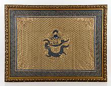 19th C. Chinese Gold Embroidered Tapestry
