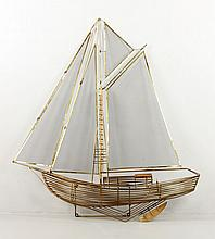 Jere, Sailing Ship, Metal Wall Sculpture