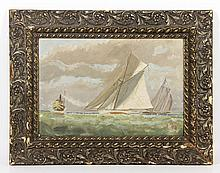 19th C., 1886 America's Cup Race, O/C