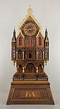 Monumental Victorian Fretwork Cathedral Clock
