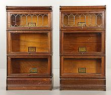 Two Globe Wernicke Barrister Bookcases
