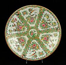 19th C. Chinese Rose Medallion Charger