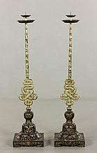 Pr. Early 20th C. Chinese Candlesticks