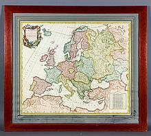 Engraved Map of Europe
