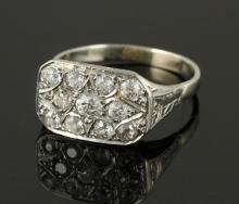 Diamond and Platinum Cocktail Ring