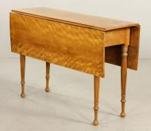 19th C. Sheraton Drop Leaf Table