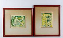 2 Charlot Lithographs