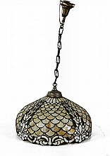 Leaded Glass Hanging Lamp