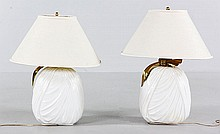 Brass and Ceramic Table Lamps