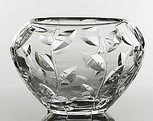 Orrefors Crystal Floral Vase