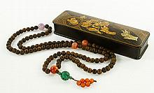 Chinese Carved Wood Necklace