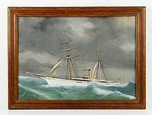 Steam Yacht in Rolling Seas, W/C