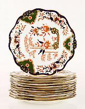 12 19th C. English Doulton Burslem Plates