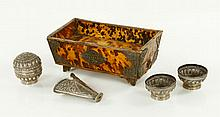 19th C. Indonesian Box and Accessories
