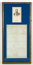 1796 Military Document Signed by Michel